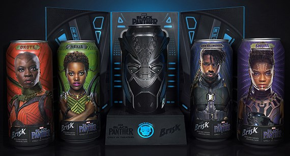Black Panther movie character water cans with 3D printed mask covering by Protolabs