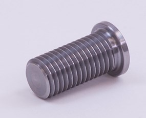 Turned metal part, external threads